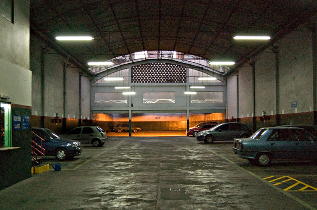 garage, estacionamiento